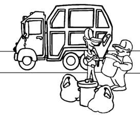 garbage truck coloring pages coloringstar