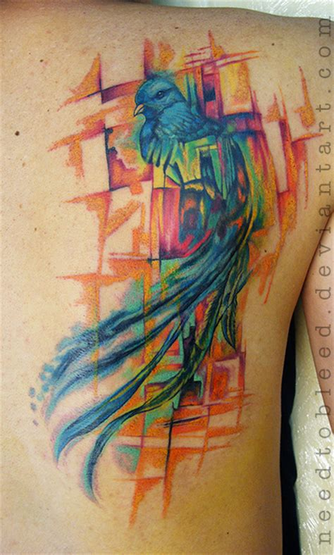 watercolor quetzal tattoo quetzal by benjamin otero by needtobleed on deviantart