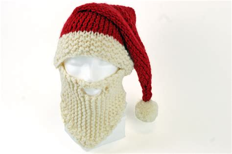 pattern for father christmas hat santa hat and beard knitting pattern hobbycraft blog