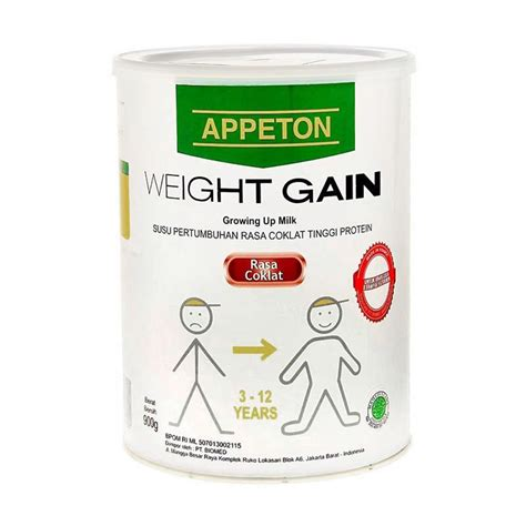 Appeton Weight Gain Rasa Coklat jual appeton weight gain child coklat promo 900gr