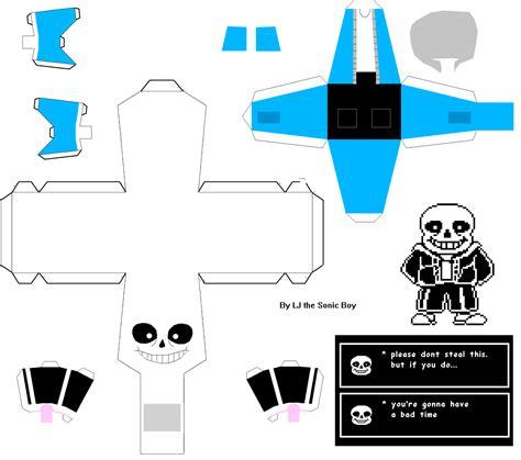 paper craft undertale sans papercraft by ljthesonicboy on deviantart