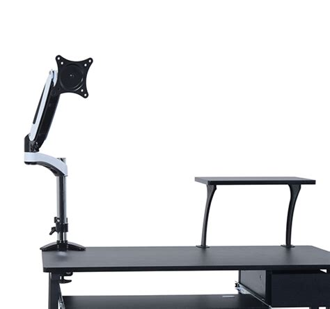 computer swing arm table homcom computer monitor mount pc desk swing arm adjustable