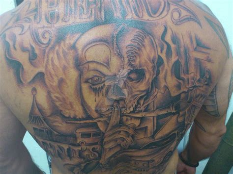 tattoo back chicano tattoo chicanos by mrshantwo on deviantart