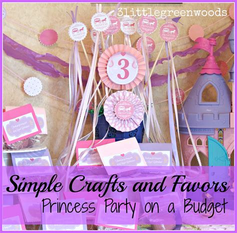 Princess Party Giveaways - simple princess party favors