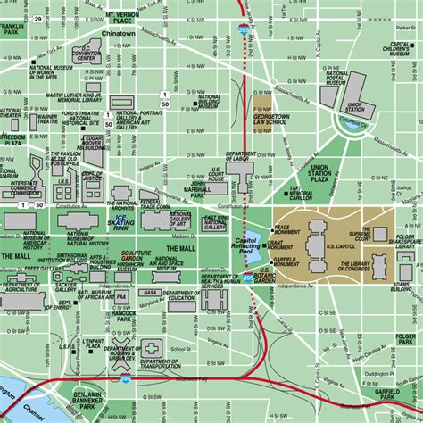 washington dc map national mall the national mall in washington dc