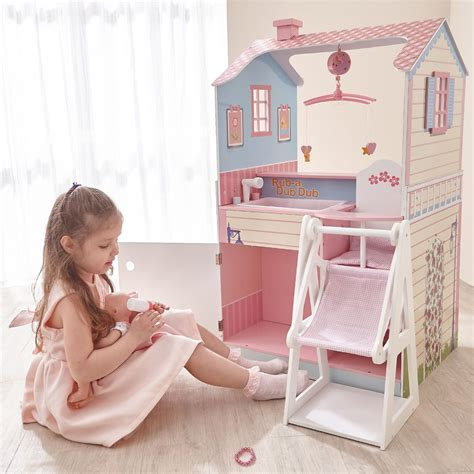 baby doll house all in one 18 inch pink baby nursery station doll house discount doll house