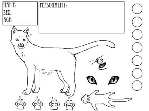 warrior cat template catswarriors explore catswarriors on deviantart