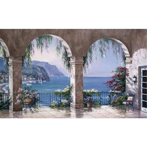 wall mural for shop environmental graphics mediterranean arch wall mural at lowes