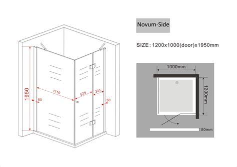 Kleiderschrank Schiebetüren 120 Cm by Duschkabine Novum Side 120 X 100 X 200 Cm Inkl Duschtasse