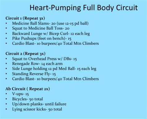 strength and cardio circuit workout workouts