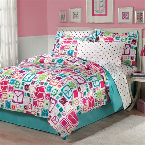 walmart bedding my room peace out bed in a bag bedding set walmart com