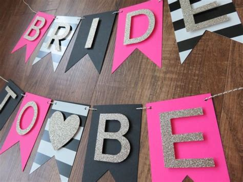 pink and black bridal shower decorations kate spade theme to be banner pink gold black white decorations bridal