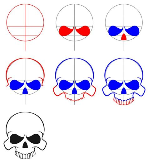 easy step by step how to draw skull and snake pics how to draw skulls draw skulls