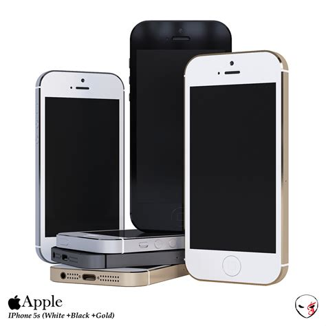apple iphone 5s 3d model max obj fbx mtl cgtrader