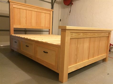 Bed With Drawers by White Farmhouse Storage Bed With Drawer Diy