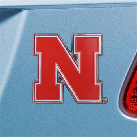 nebraska colors fanmats nebraska emblem color