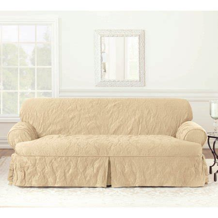 Damask Sofa Slipcover by Sure Fit Matelasse Damask T Cushion Sofa Slipcover