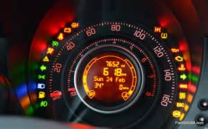 Fiat Bravo Warning Lights A Look At The Fiat 500 Instrument Panel Fiat 500 Usa