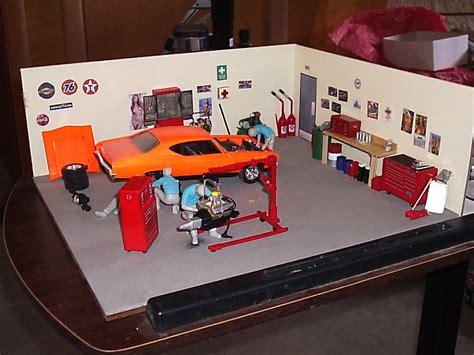 Model Car Garage Diorama Accessories by Garage Diorama Fantastic Plastic Models