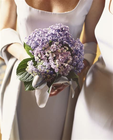 Hydrangea Wedding Flowers by Purple Bridal Bouquet