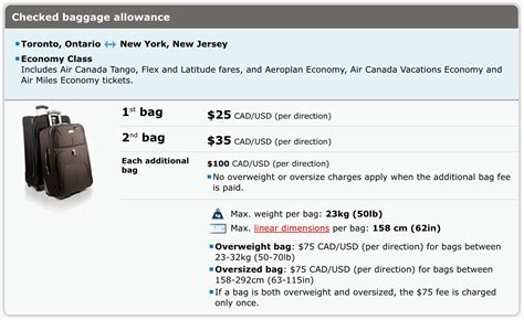 baggage fee will air canada roll out bag fees for canadian flights travelupdate