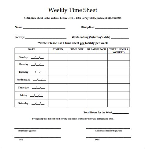 easy timesheet template 22 simple timesheet templates free sle exle