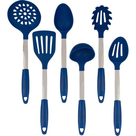 Silicone Kitchen Utensil Set by Culinary Couture Stainless Steel And Silicone Cooking