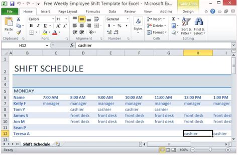 shift schedule excel template free weekly employee shift template for excel