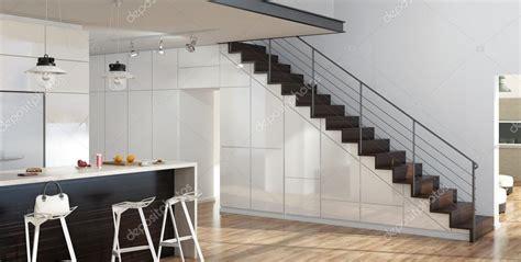 Salon Avec Escalier by Modern Salon Int 233 Rieur Avec Cuisine Et Escalier