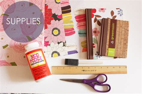Decoupage Supplies - decoupaged notebook how to thesassylife