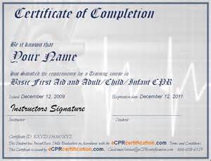 aid certificate template free printable cpr certificate