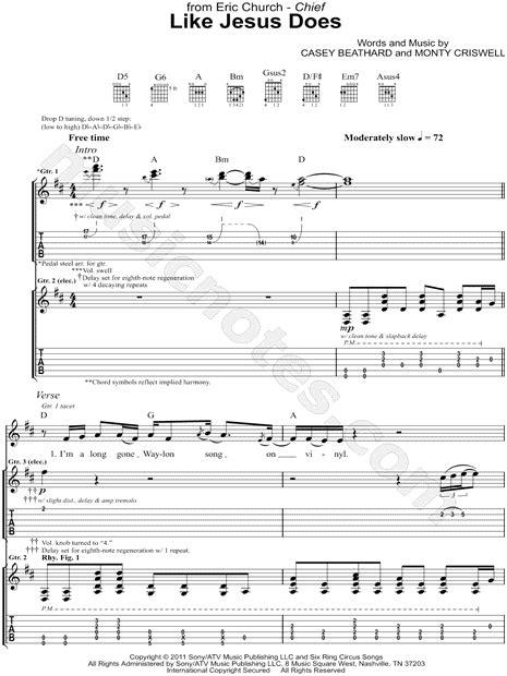 Eric church sheet music