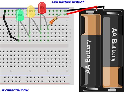 a diagram on how to wire led diodes in series 45 wiring