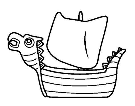 barcos para pintar on line desenho de drakken barco viking para colorir colorir