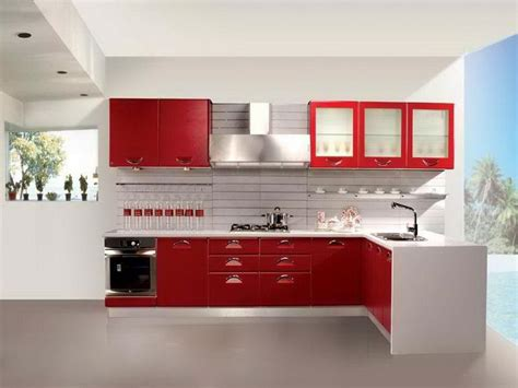 red kitchen with white cabinets cabinets shelving how to choose red and white kitchen