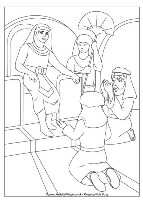coloring pages joseph and pharaoh joseph and pharaoh colouring page