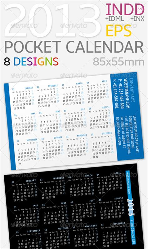 pocket calendar template 2013 pocket calendar calendar template 2016