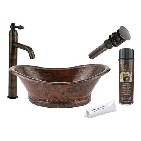 lead free copper sinks bath tub low lead hammered copper vessel bathroom sink