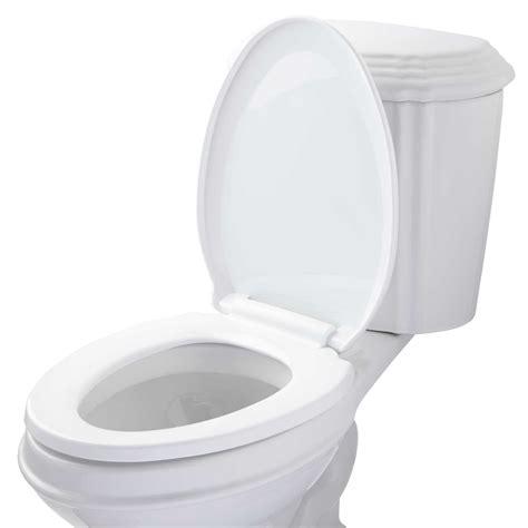 elongated self closing toilet seat bathroom