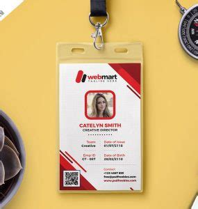 photo id card template photoshop free name tag mockup psd psd