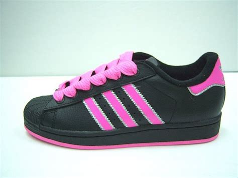superstar 2 w pink black adidas shoes