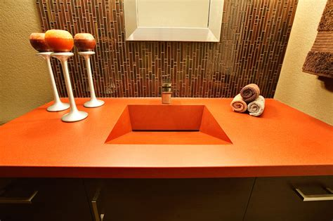 Concrete Countertops Milwaukee by Concrete Countertop Modern Bathroom Milwaukee By