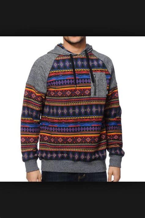 tribal pattern pullover hoodie swimwear mens hoodie sweater aztec tribal pattern