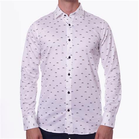 Print Shirt bicycle print trostol white shirt designer shirts