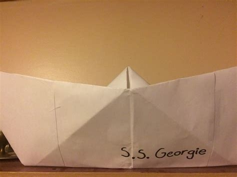 ss georgie paper boat my s s georgie boat horror amino