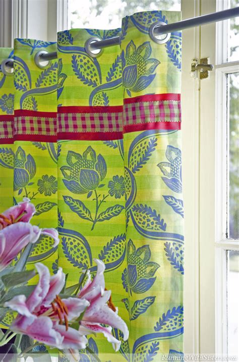 how to sew cafe curtains how to sew palm beach caf 233 curtains running with sisters