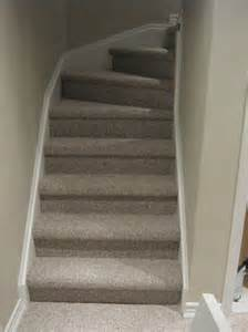 Basement Stairs Carpet by Aggroup Inc Majoor Carpet Installation On Stairs