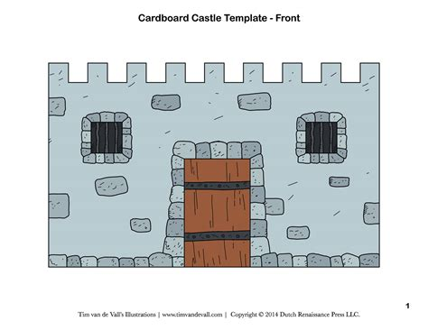 Cut Out Castle Template free diy cardboard castle for build your own