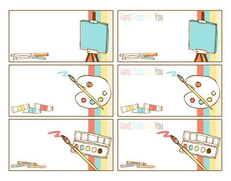 printable art tags arts and crafts free printable tags and labels these are
