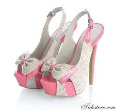 Sendal Wedges Fashionable Bf Pink R689 diamante pink and black high heel pumps